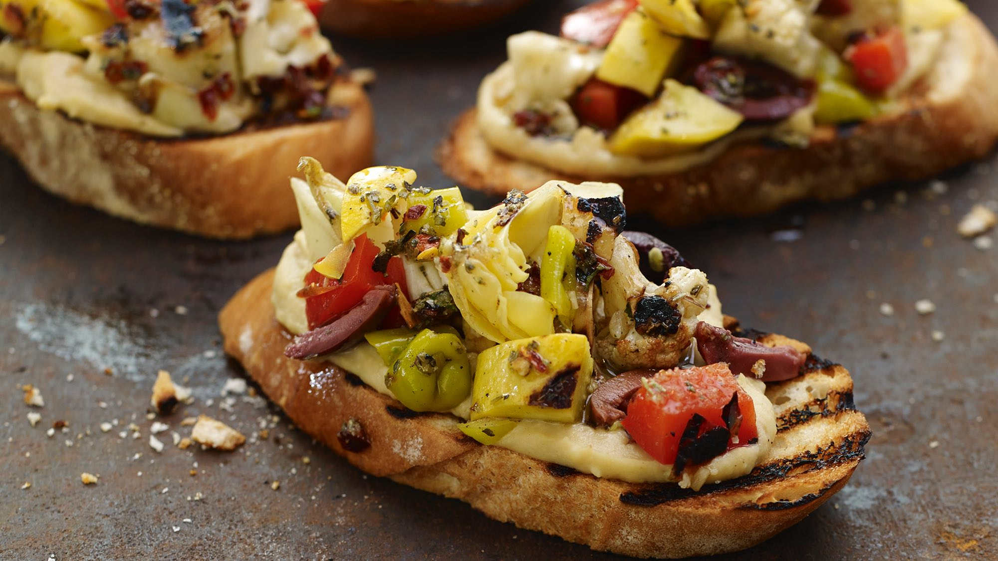 McCormick Grilled Vegetable Antipasto Bruschetta