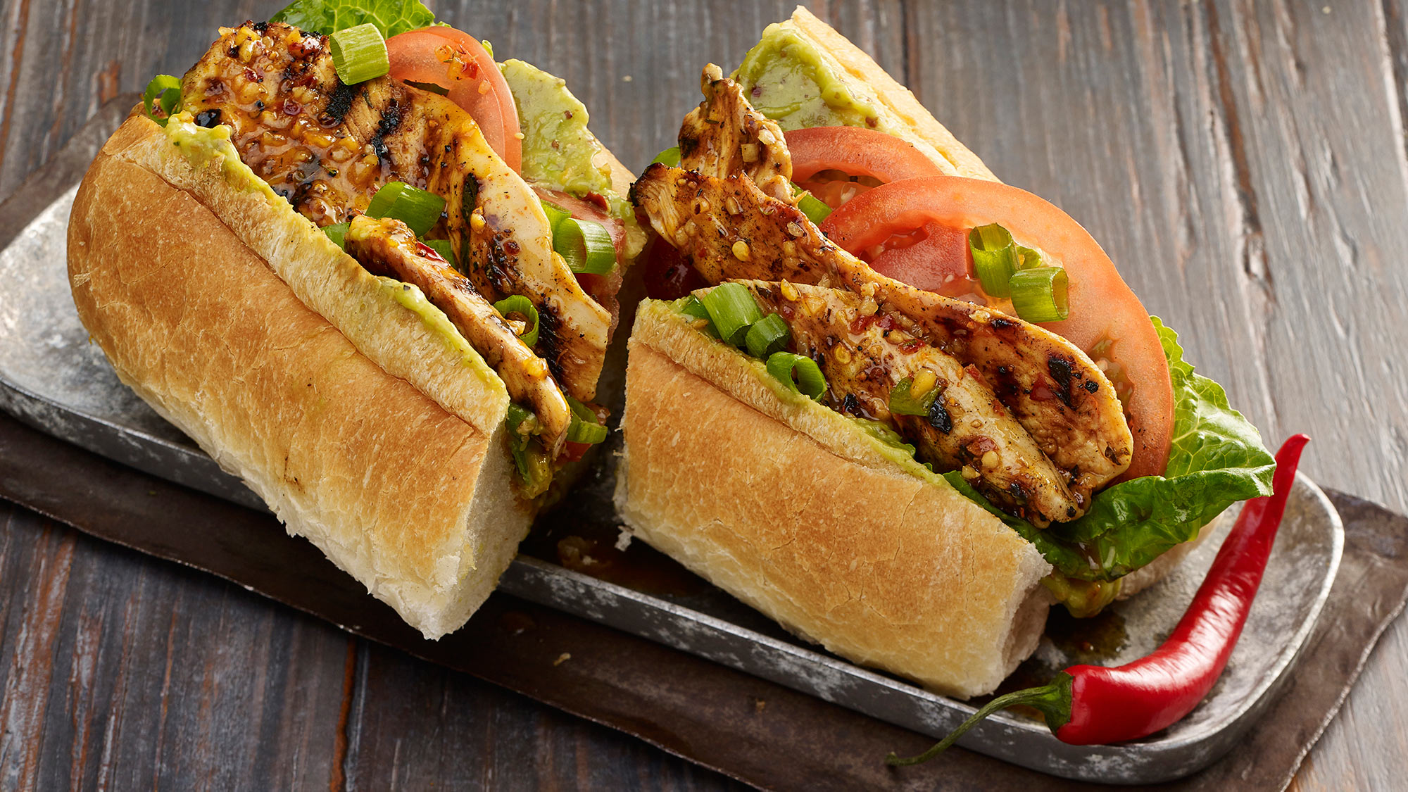 Grill Mates Grilled Chicken Po Boy Sandwich with Spicy Creole Mustard Sauce