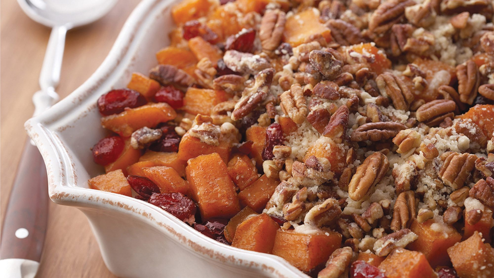 McCormick Roasted Sweet Potatoes with Cinnamon Pecan Crunch