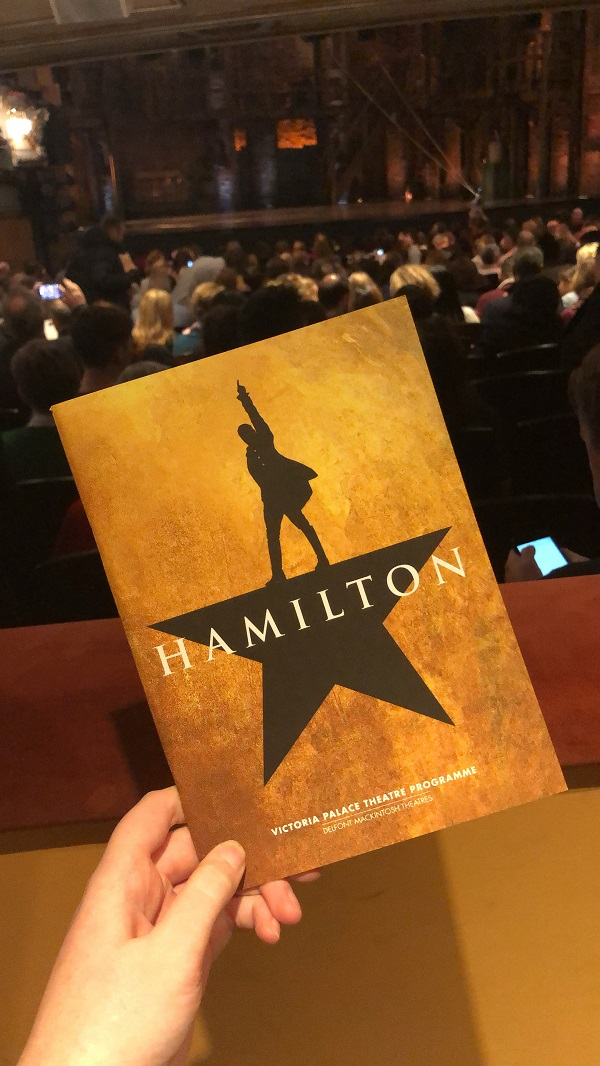 Shona at the Theatre for hamilton