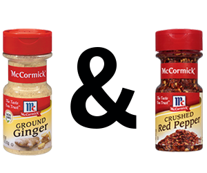 McCormick Ginger, Ground and McCormick Red Pepper, Crushed