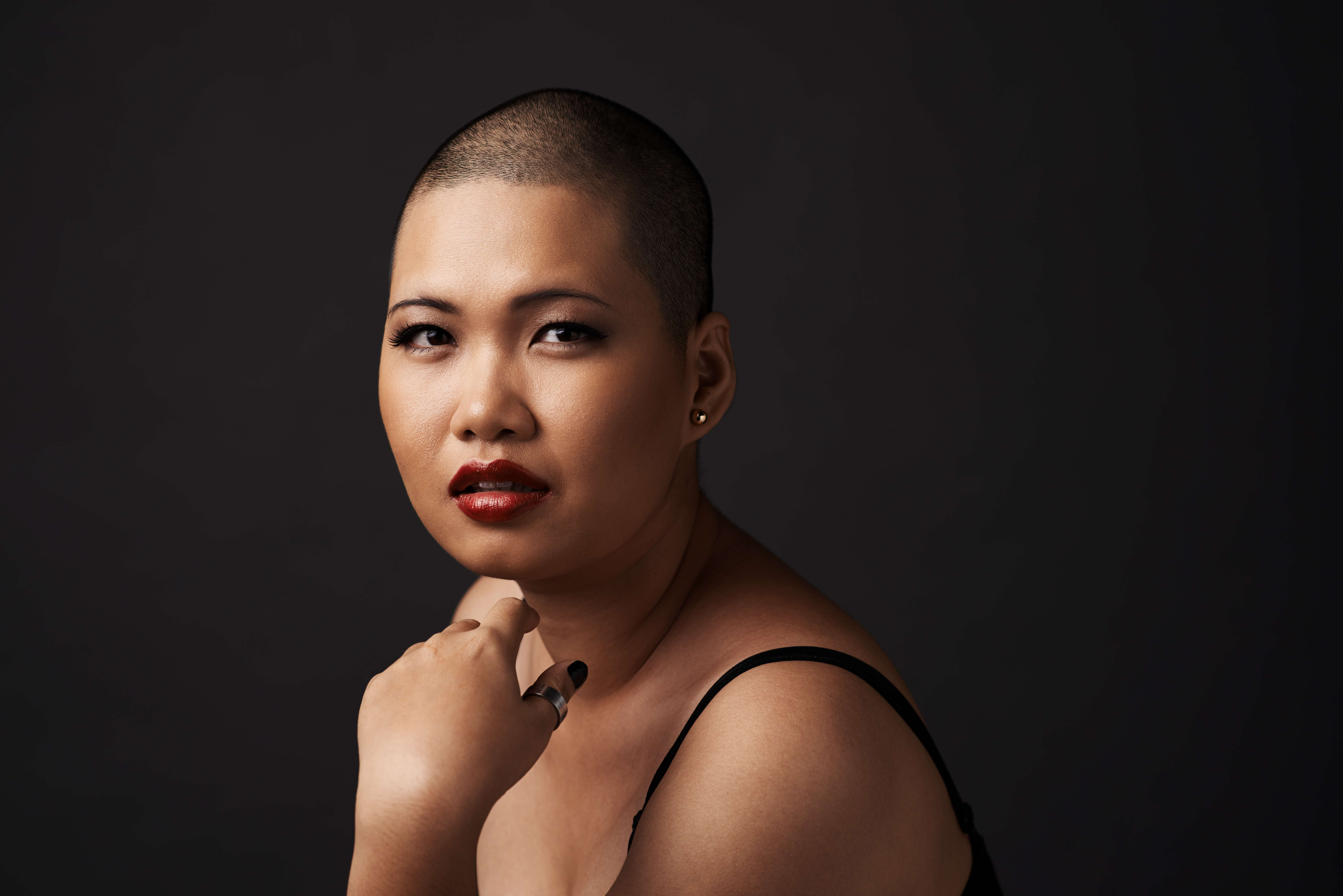 asian woman with a buzz cut hairstyle.jpg