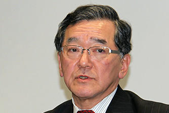 Photo : Takao Yajima Executive Officer, Group Divisional Manager, Business Systems Division, Corporate Planning Unit,Yanmar Holdings Co., Ltd.