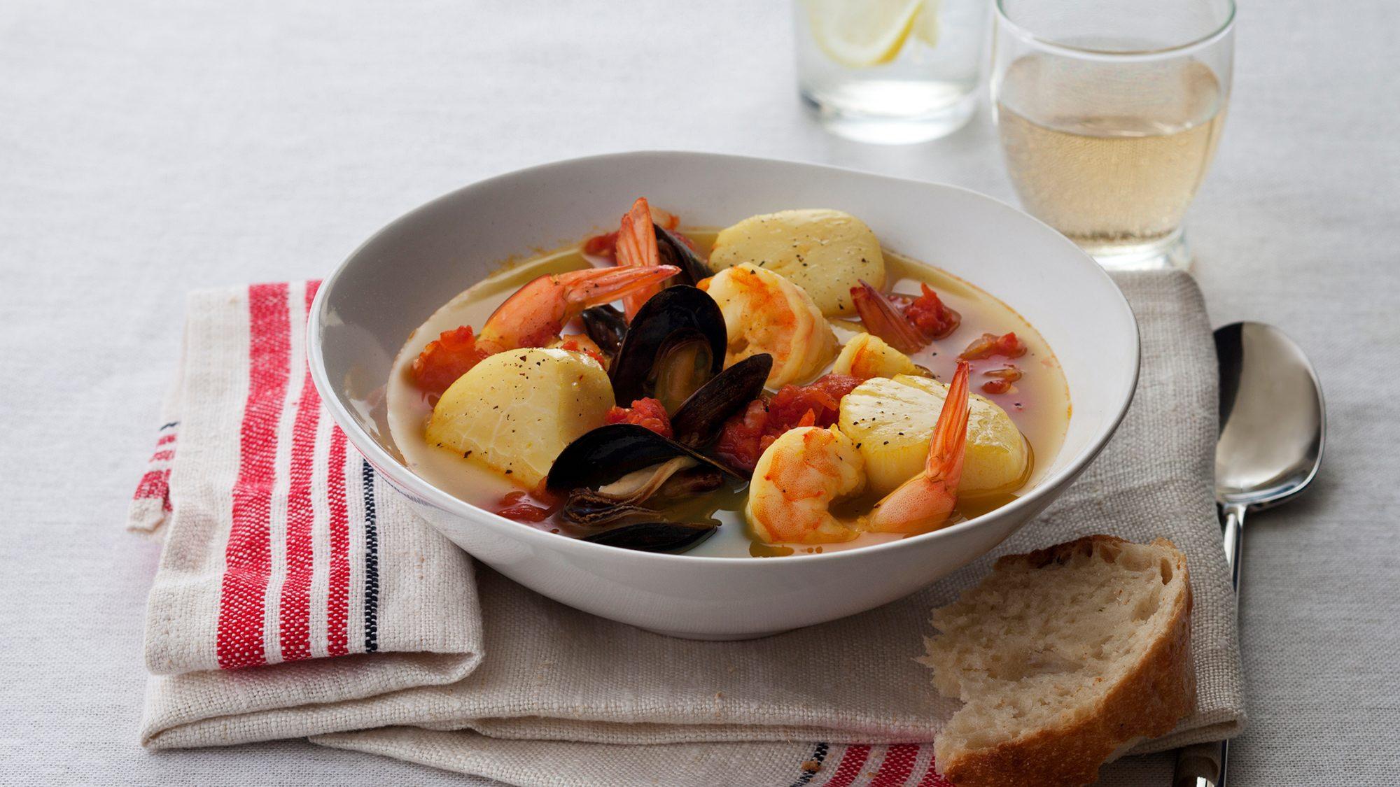 Kitchen Basics Spiced Seafood Stew