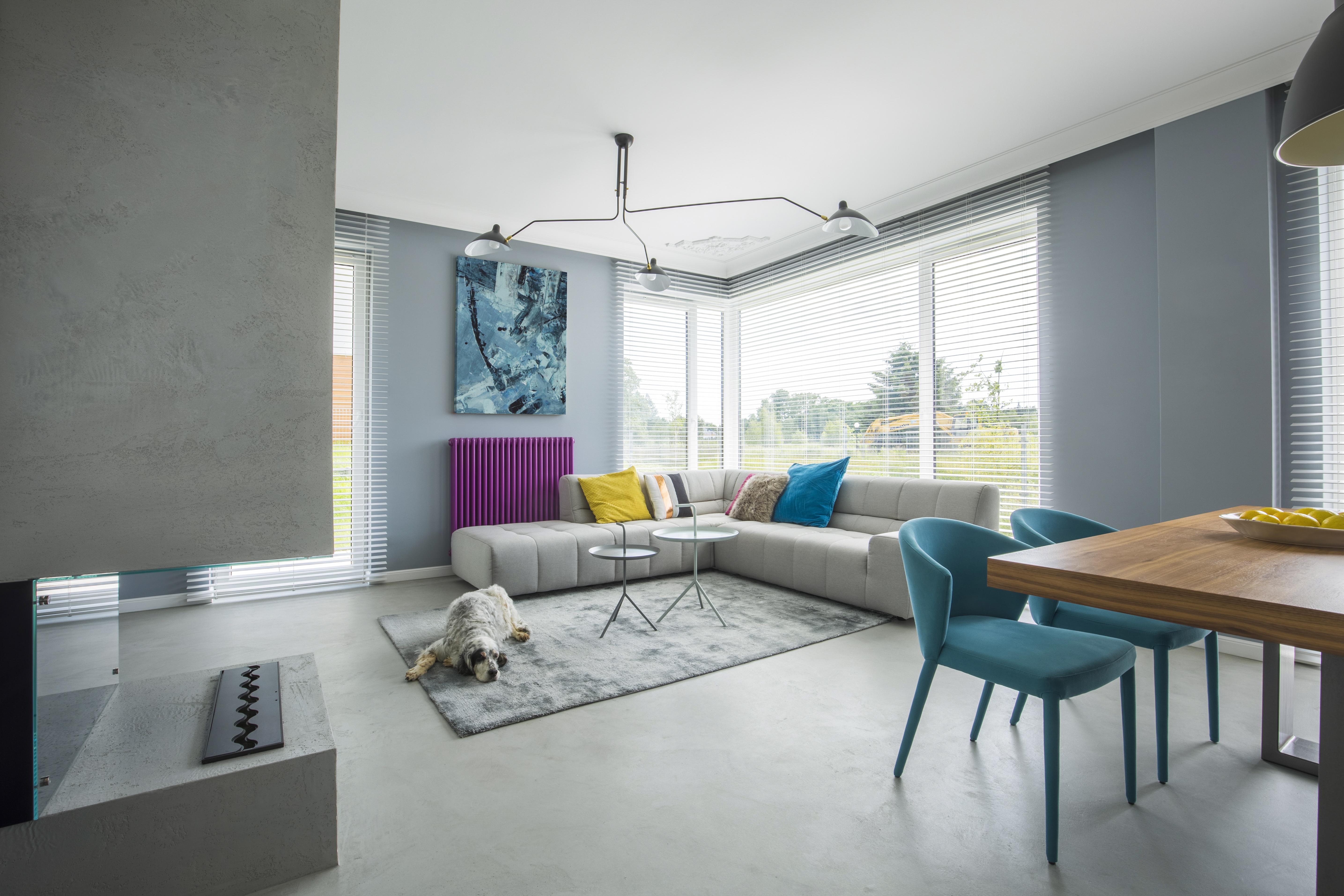 Gray open space interior