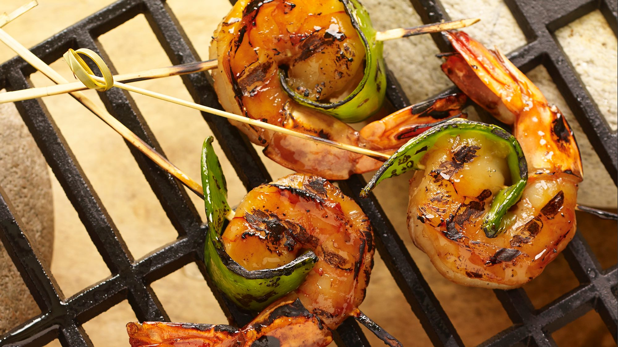 McCormick Grilled Sesame Ginger Shrimp Kebabs with Snow Peas