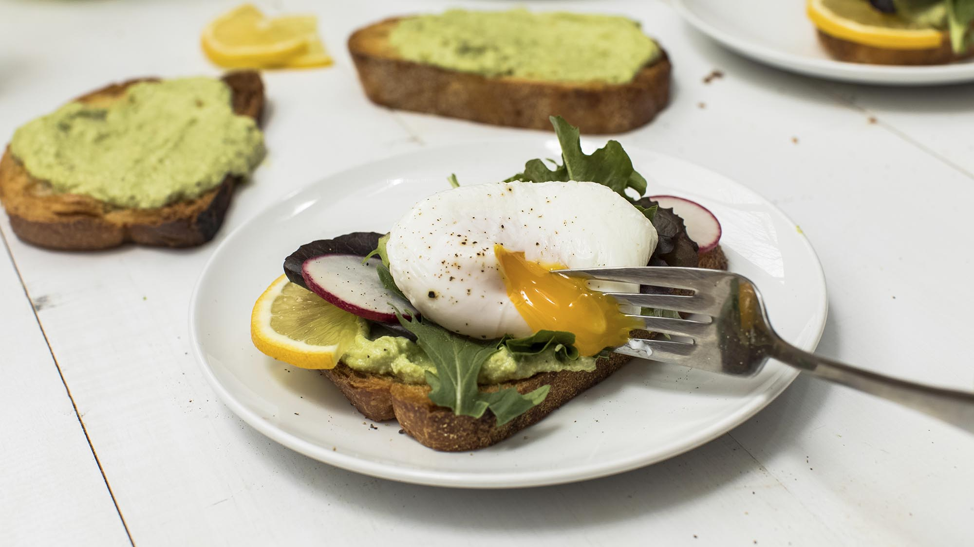 McCormick Avocado Ricotta Toast with Poached Eggs