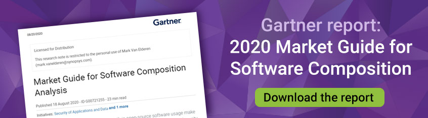 Gartner report: 2020 Market Guide for Software Composition | Synopsys