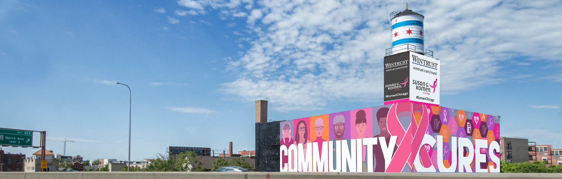 The Mural Building: Susan G. Komen Chicago