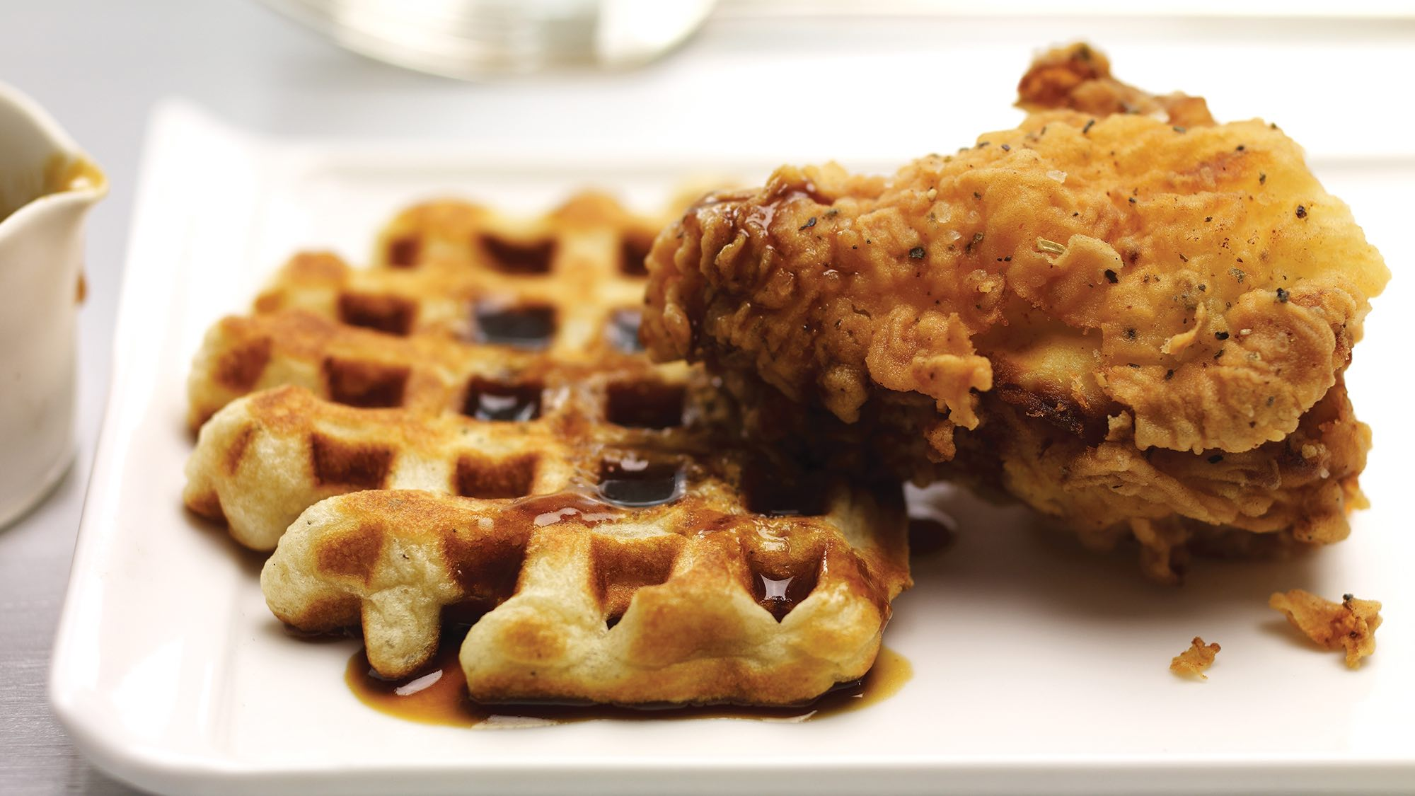 McCormick Fried Chicken and Waffles with Molasses Cider Syrup