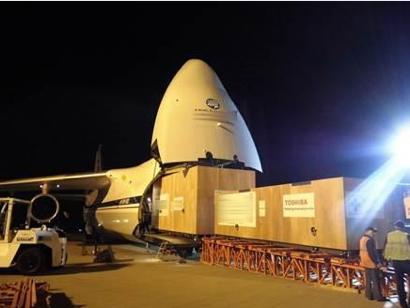 a huge Russian transport plane