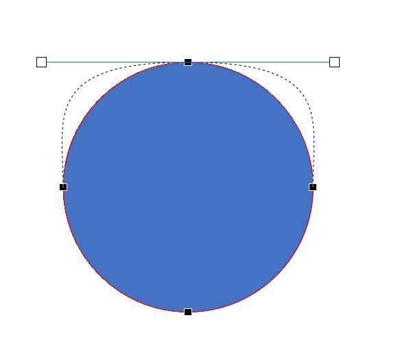 〔Shift〕キーを押しながら動かすと、連動して左右の角度・大きさが変更される