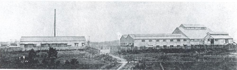 1908年頃の国鉄川崎駅と新工場付近の様子