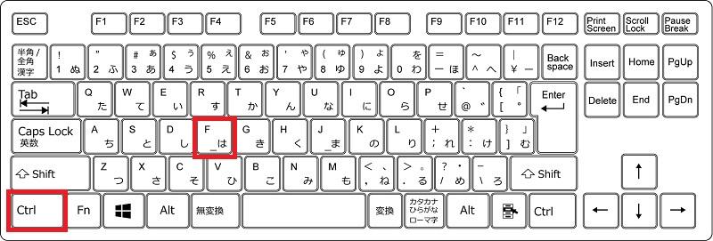 ページ(文書)内検索で使うショートカットキー(Windows)