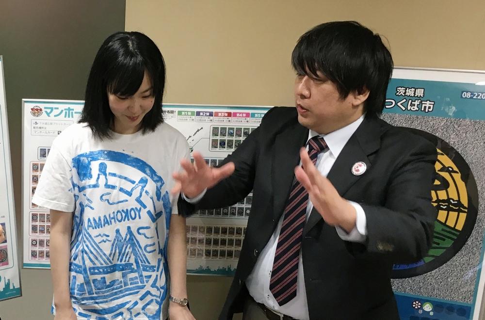 マンホールについて熱く語る山田氏と高橋氏