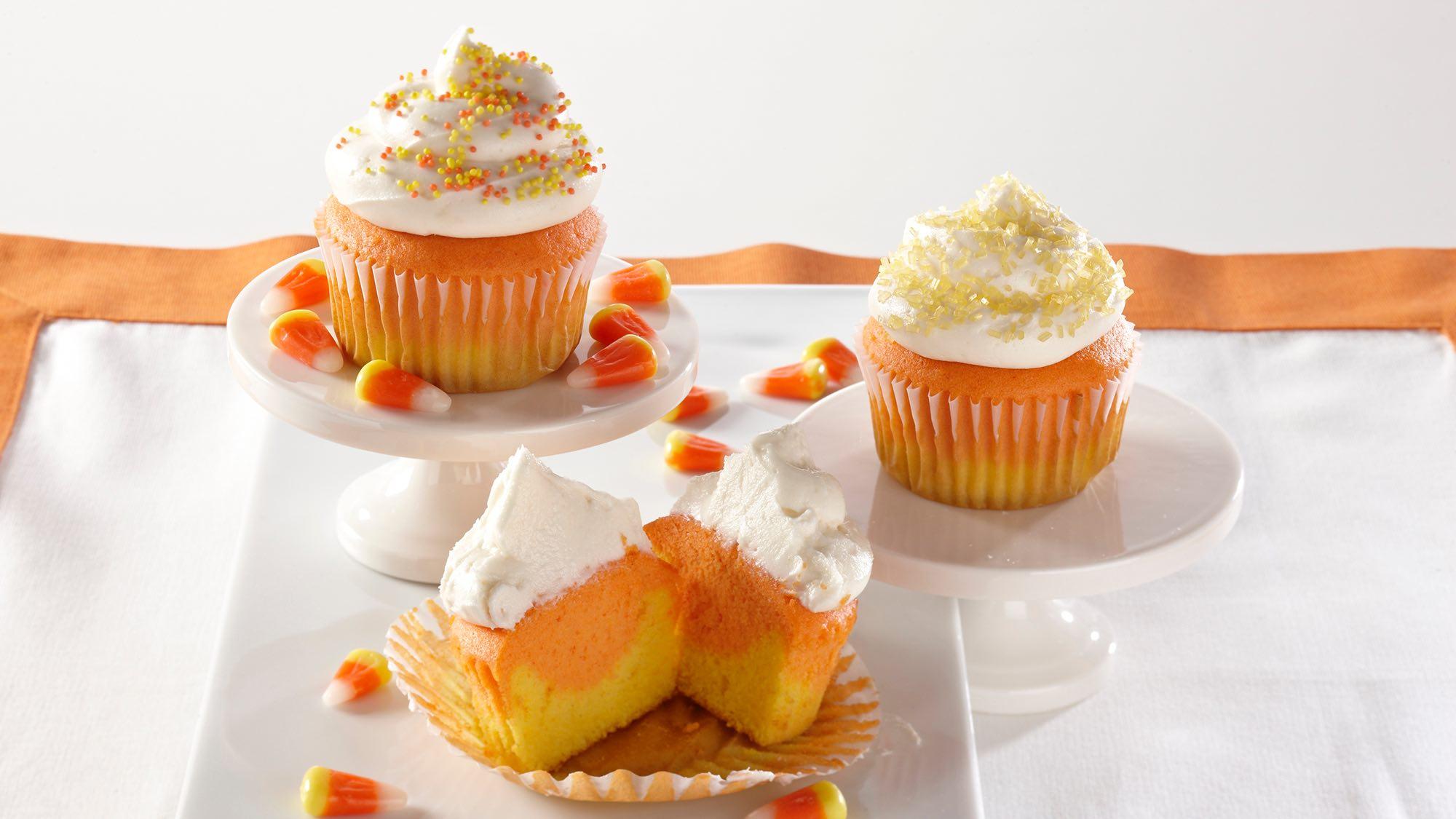 McCormick Candy Corn Cupcakes