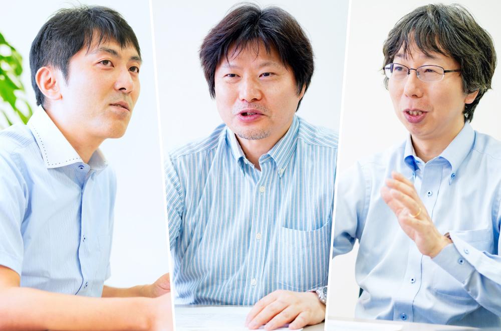 From left to right: Akio Amano, Kenji Todori, and Koji Mizuguchi from the Corporate Research & Development Center, Toshiba Corporation