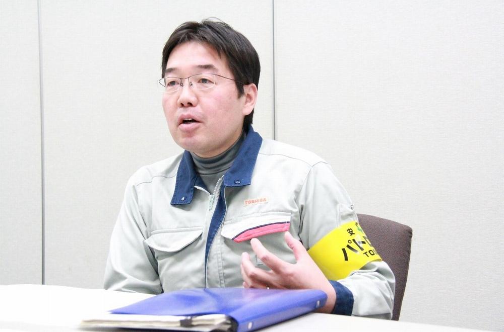 東芝エネルギーシステムズ株式会社 京浜事業所 原動機部 タービン生産管理担当 グループ長 木内勝人氏