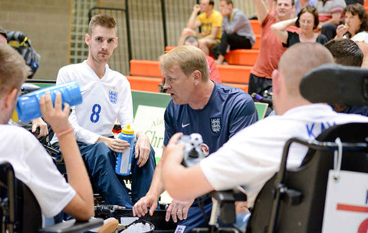 England's powerchair football team