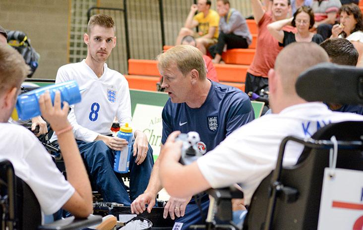 England's powerchair football team