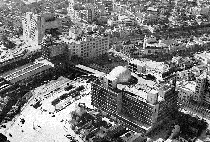 View of Shibuya circa in Tokyo in the 1960s