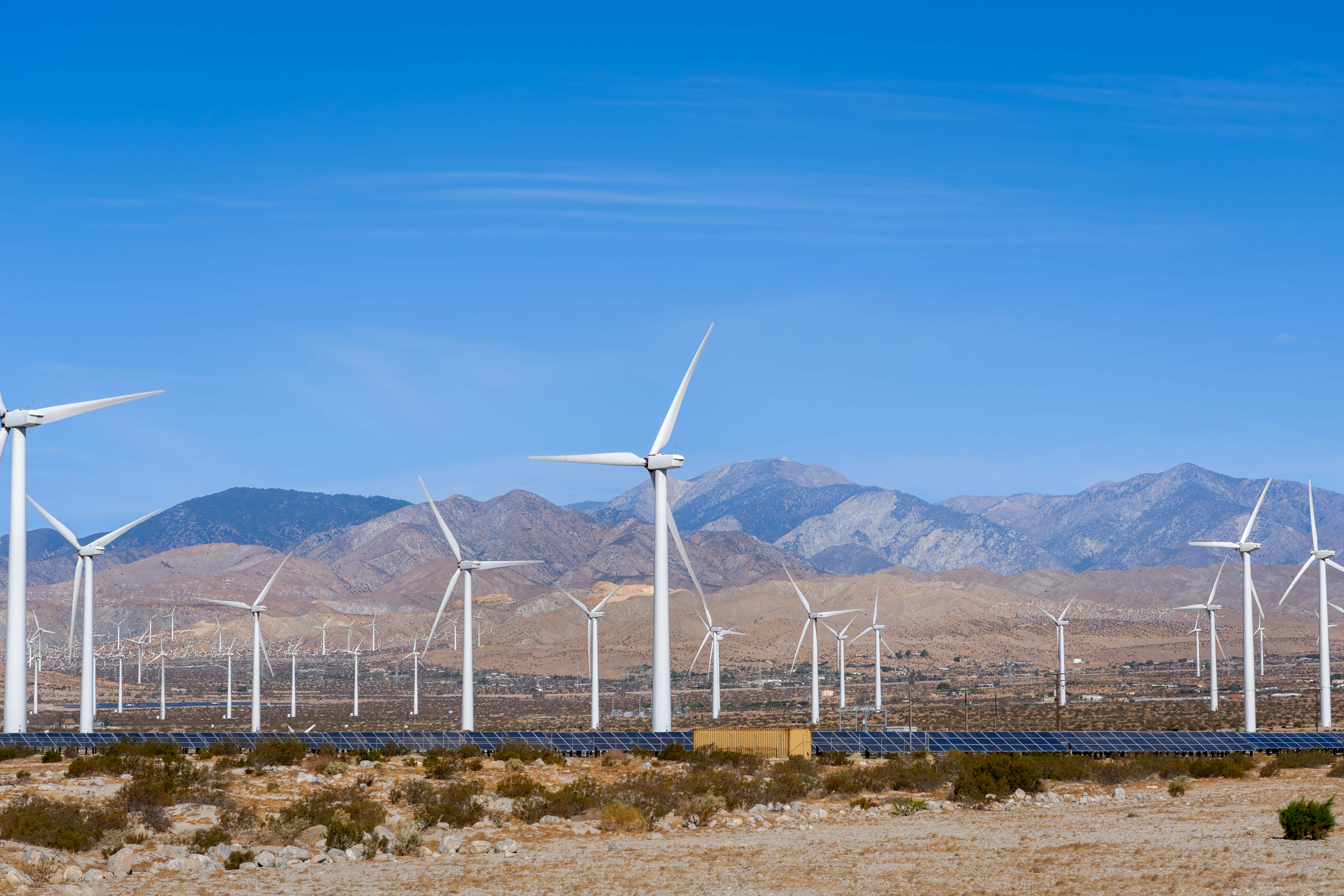 Wind and Solar Farm in the California Desert
