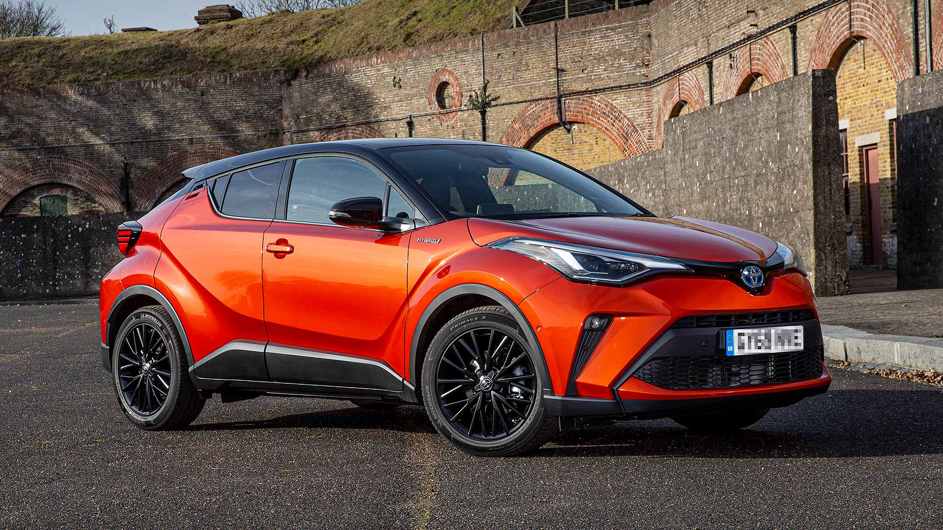 Red Toyota C-HR 1.8 Hybrid Icon