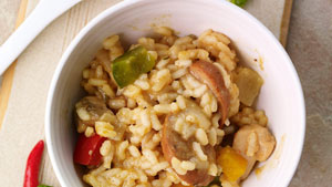 Multi-cooker chicken risotto