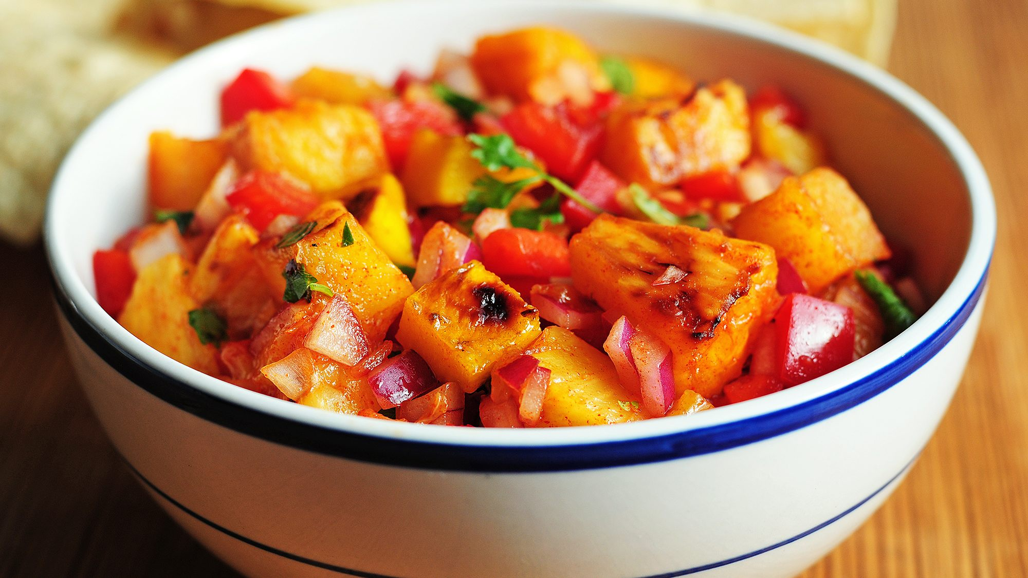 McCormick Gourmet Grilled Fruit Salsa with Lime Tequila and Smoked Paprika