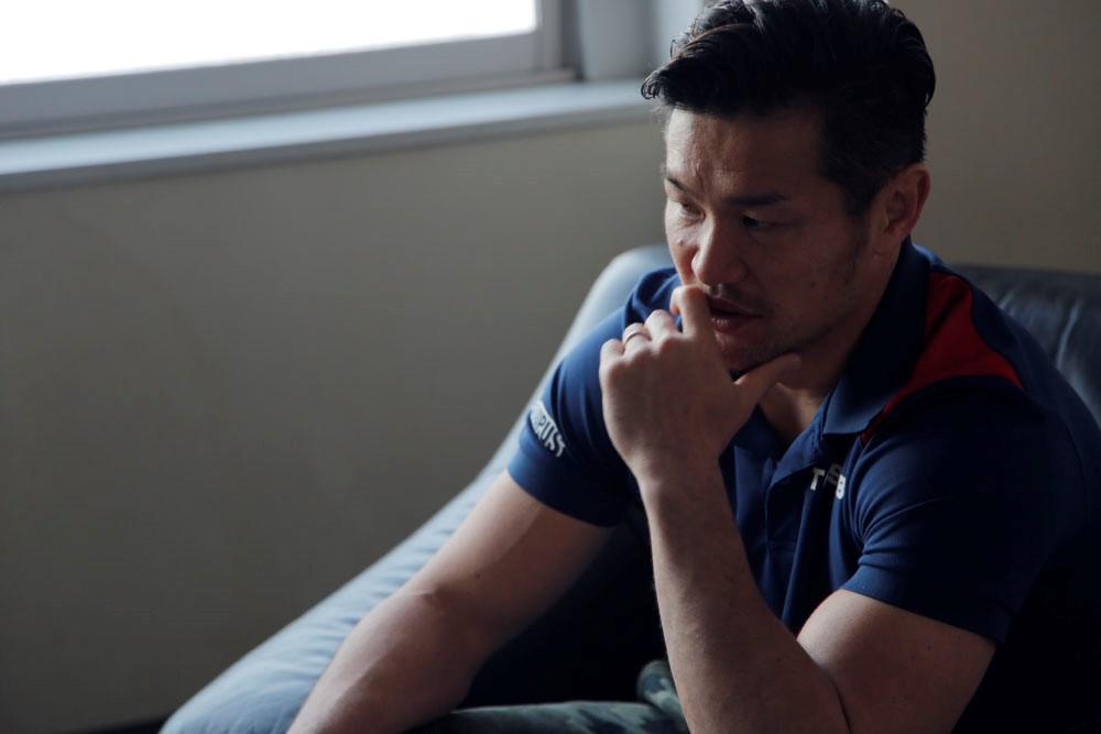 インタビューに答える廣瀬選手