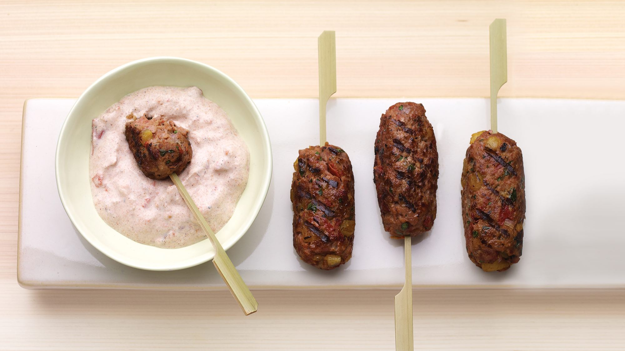 McCormick Lamb and Plaintain Koftas with Tomato Yogurt Sauce