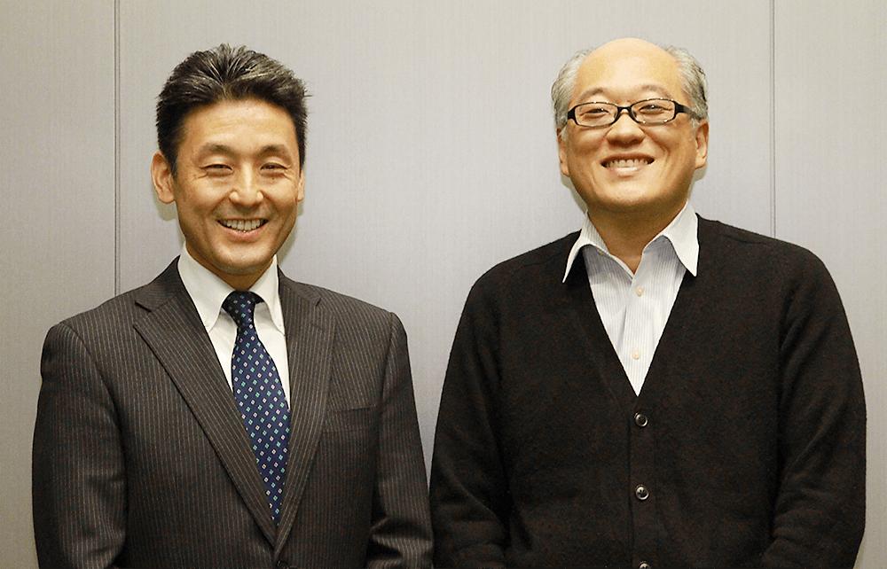 森兼秀記氏(左)と佐久間敦氏(右)