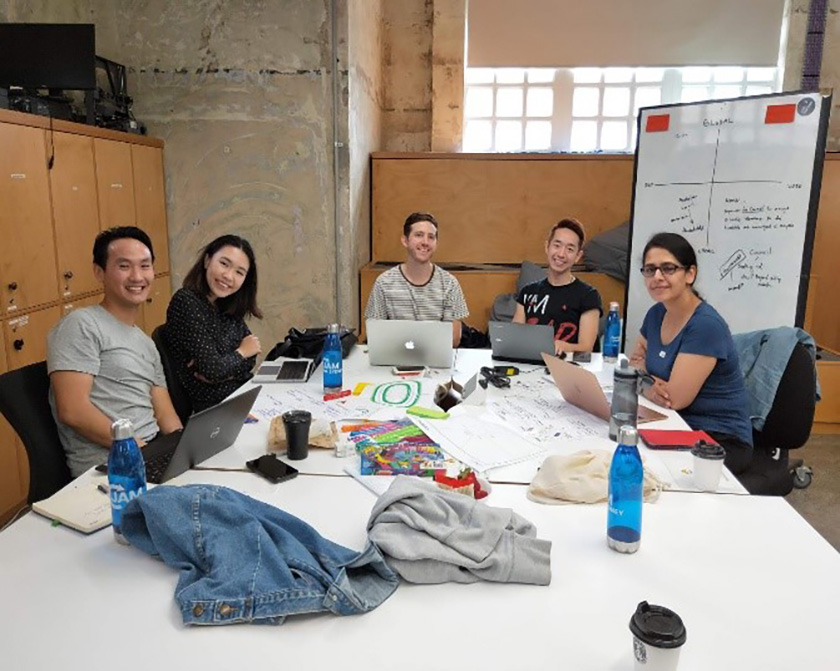 "Photo : ""It was such a great experience to use design thinking principles to come up with a solution to deal with eWaste. I highly recommend people to join the next one!"" – Waylon Fung"