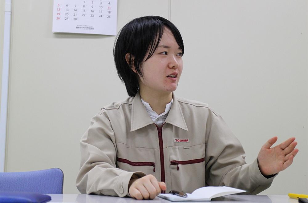 Yuki Hata explains her results