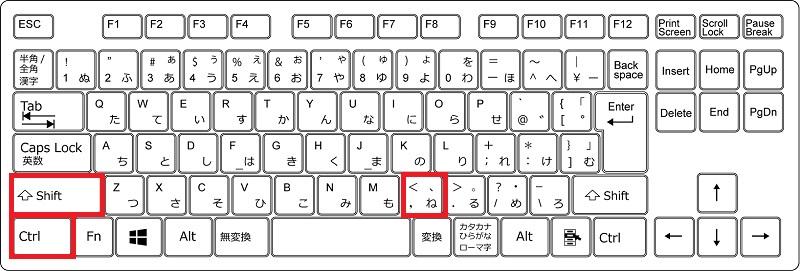 フォントサイズを小さくするショートカット(Windows)