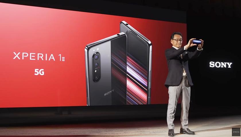 写真 : ソニーモバイルコミュニケーションズはMWCで予定していた5G対応スマートフォン「Xperia 1Ⅱ」の製品発表会をオンラインで実施した(出所:ソニーモバイルコミュニケーションズ)