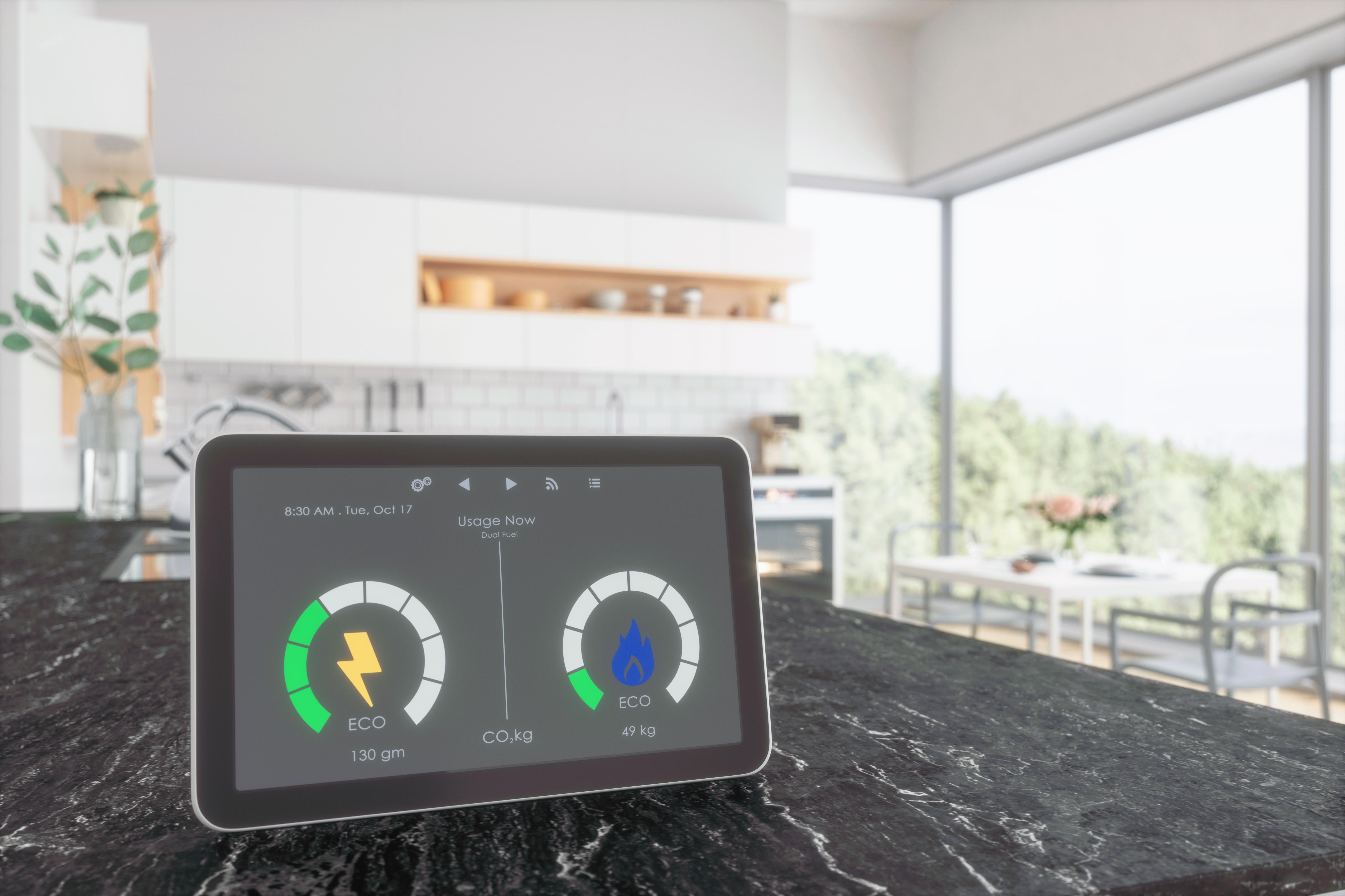 Home energy smart meter in Kitchen