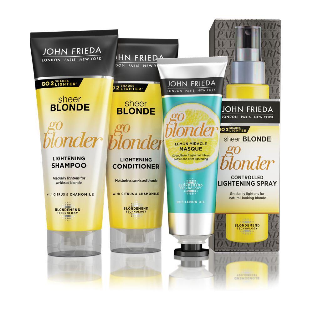 John Frieda Sheer Blonde Go Blonder hair lightening products