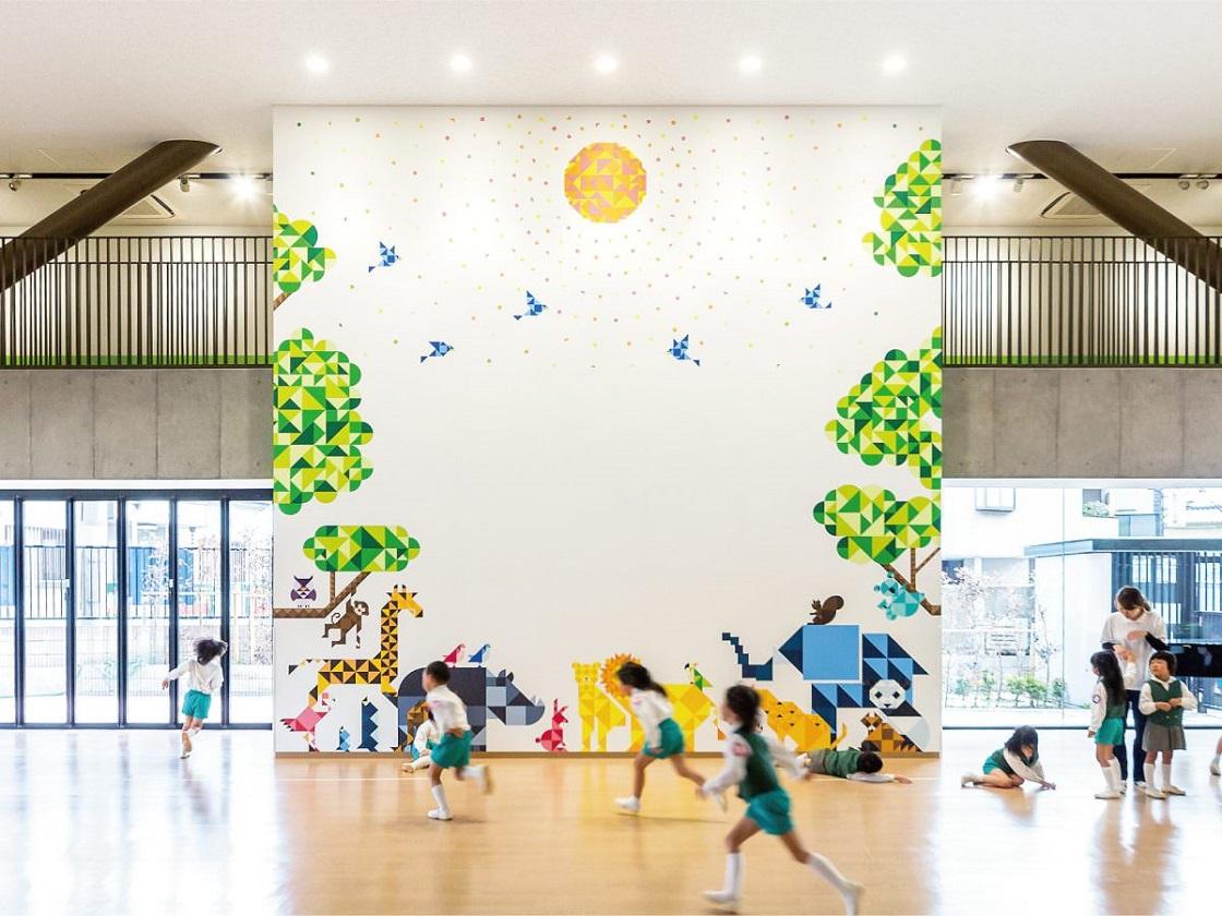 大阪国際大和田幼稚園のサインデザインを担当
