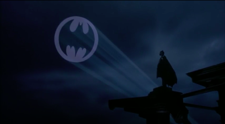 Batman gazing at the bat signal