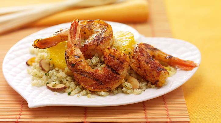 McCormick Paprika Spiced Shrimp with Citrus Cilantro Quinoa Salad