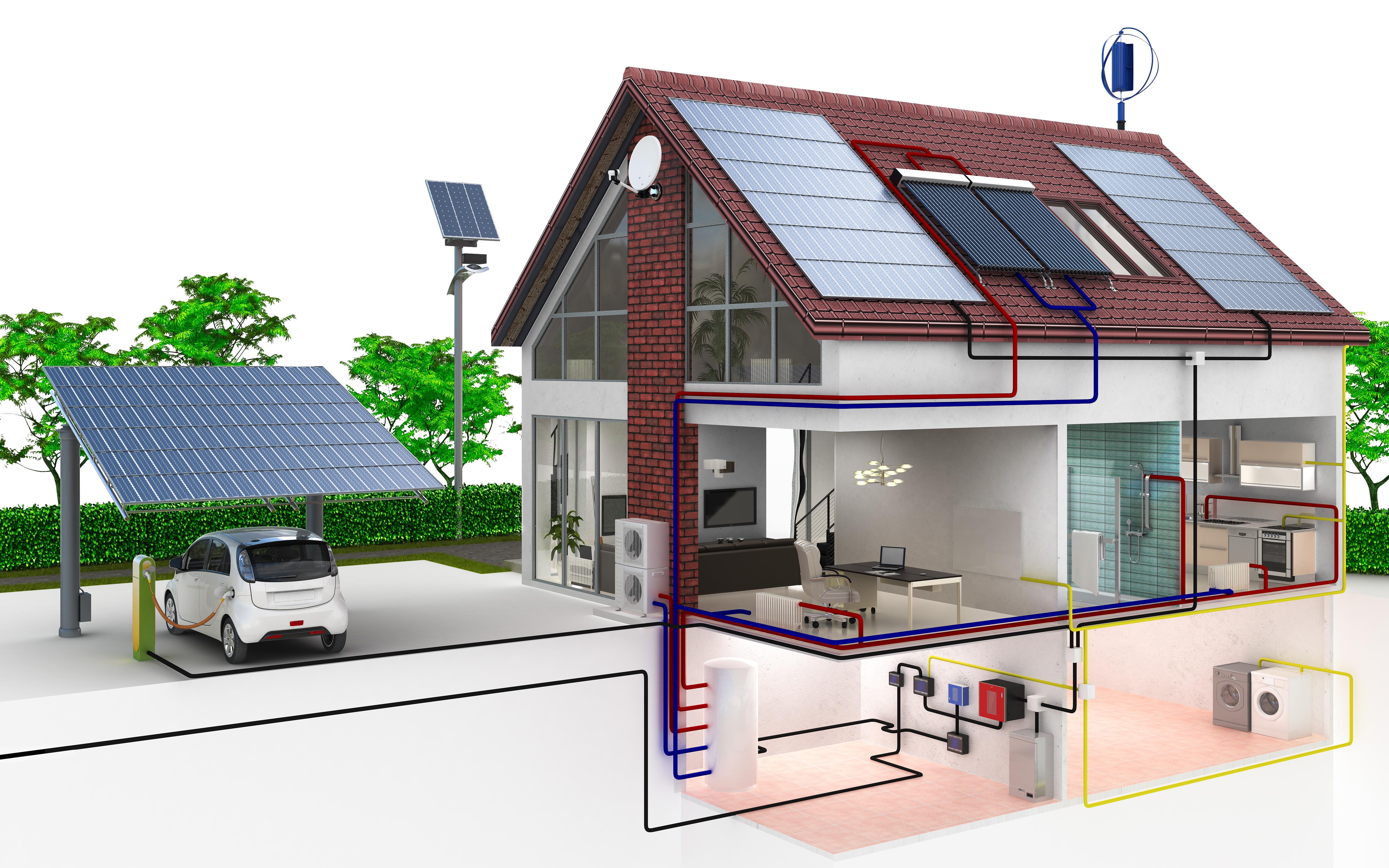 Family house energy supply