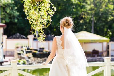 Wedding Bride back