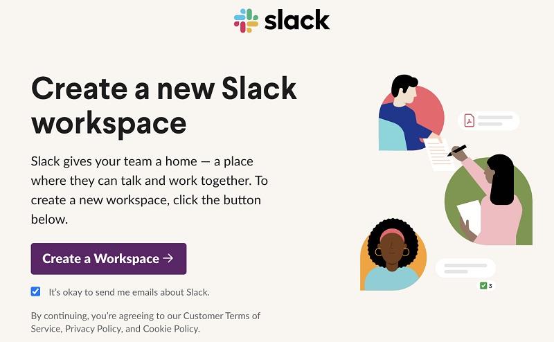 Slackのワークスペース開設手順②