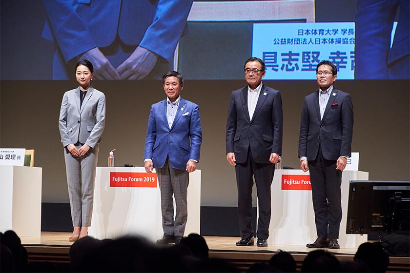 Photo : From the left: Airi Hatakeyama, Koji Gushiken, Masami Yamamoto, and Hidenori Fujiwara