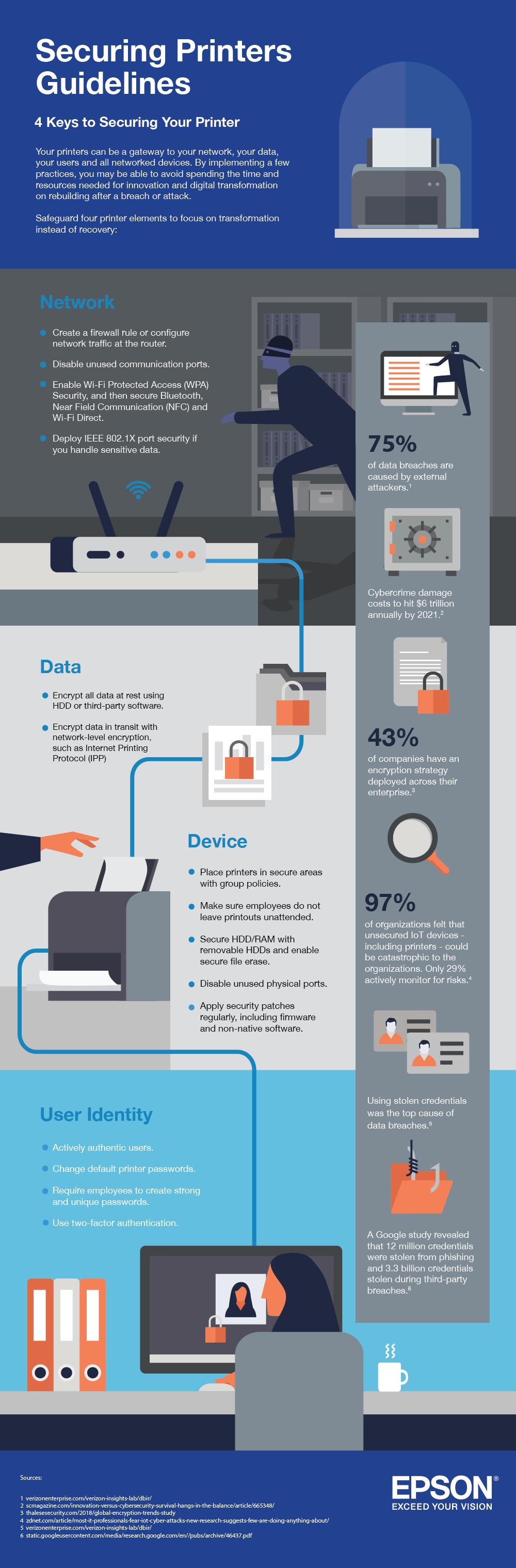 4 Keys to Printer Network Security_Epson