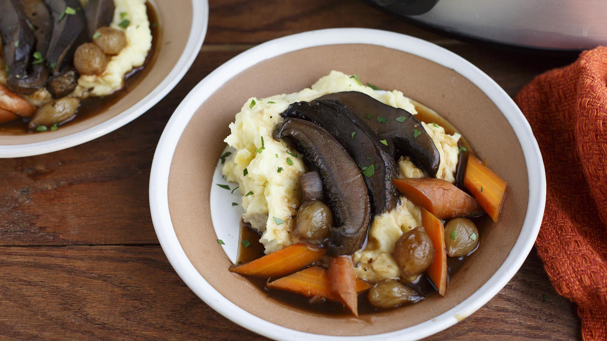 Kitchen Basics Slow Cooker Vegan Portobello Pot Roast
