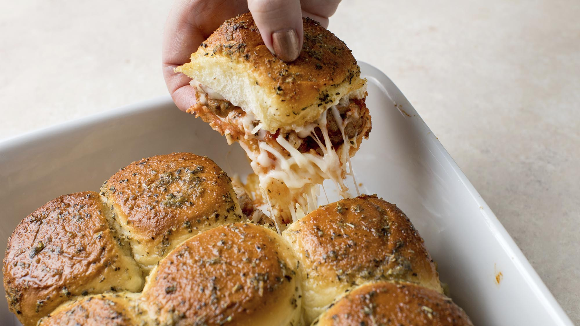 McCormick Pull Apart Garlic Bread Meatball Sandwiches