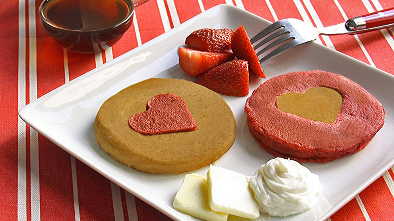 McCormick Red Velvet Cut-Out Heart Pancakes