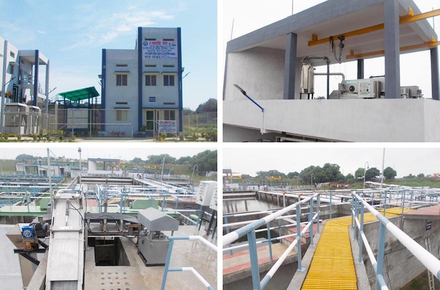 アラハーバードのサロリに建設した下水処理場
